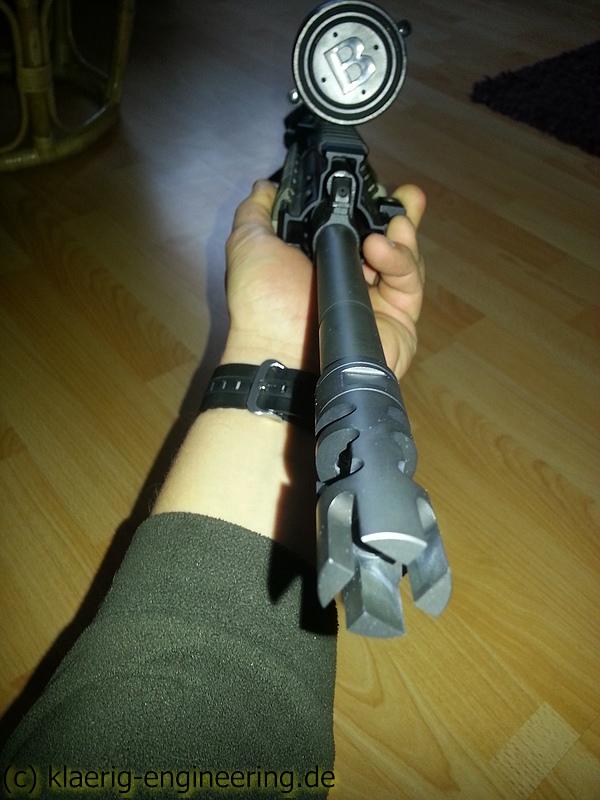 3K Brake mounted on Rifle